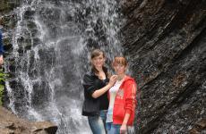 водоспад гук карпати